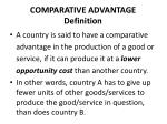 comparative advantage definition