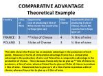 comparative advantage theoretical example