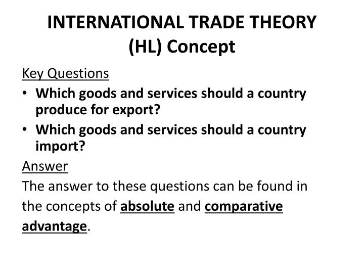 the concept of international trade