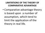 limitations of the theory of comparative advantage