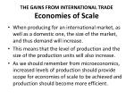 the gains from international trade economies of scale