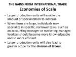 the gains from international trade economies of scale1