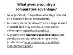 what gives a country a comparative advantage