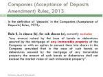 companies acceptance of deposits amendment rules 2013