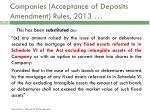 companies acceptance of deposits amendment rules 20131