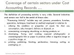 coverage of certain sectors under cost accounting records2