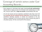 coverage of certain sectors under cost accounting records4