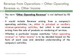 revenue from operations other operating revenue vs other income