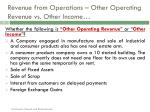 revenue from operations other operating revenue vs other income1