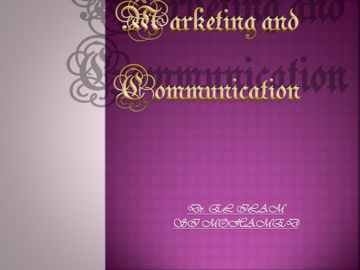 marketing and communication n.