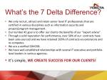 what s the 7 delta difference