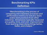 benchmarking kpis definition