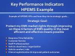 key performance indicators hpems example