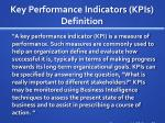 key performance indicators kpis definition