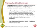 allowable fund use continued5