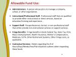 allowable fund use