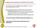 funding and distribution of fy2015 cfce grants