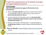fy 2015 cfce implementation of the help me grow ages and stages asq screening tool