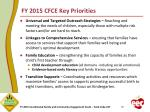 fy 2015 cfce key priorities