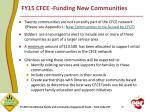 fy15 cfce funding new communities