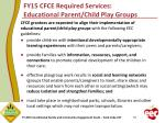 fy15 cfce required services educational parent child play groups