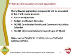 fy2015 cfce evaluation of grant applications