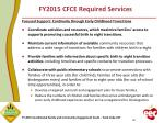 fy2015 cfce required services