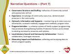 narrative questions part 7