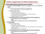 online application mail submission