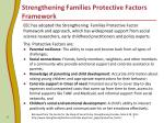 strengthening families protective factors framework
