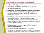 unallowable fund use continued