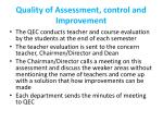 quality of assessment control and improvement