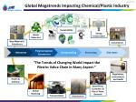global megatrends impacting chemical plastic industry