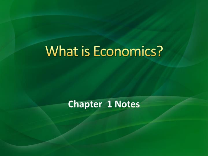 what is economics n.