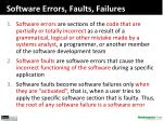 software errors faults failures