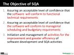 the objective of sqa