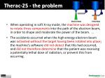 therac 25 the problem