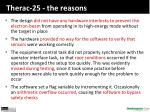 therac 25 the reasons