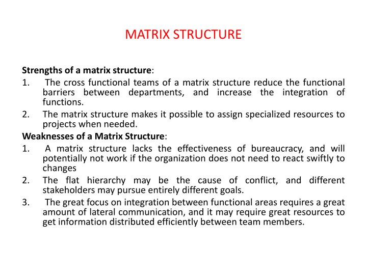 MATRIX STRUCTURE