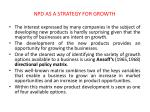 npd as a strategy for growth