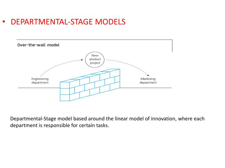 DEPARTMENTAL-STAGE MODELS