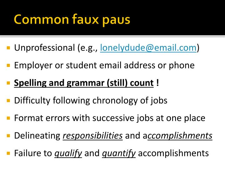 Common faux paus