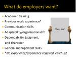 what do employers want