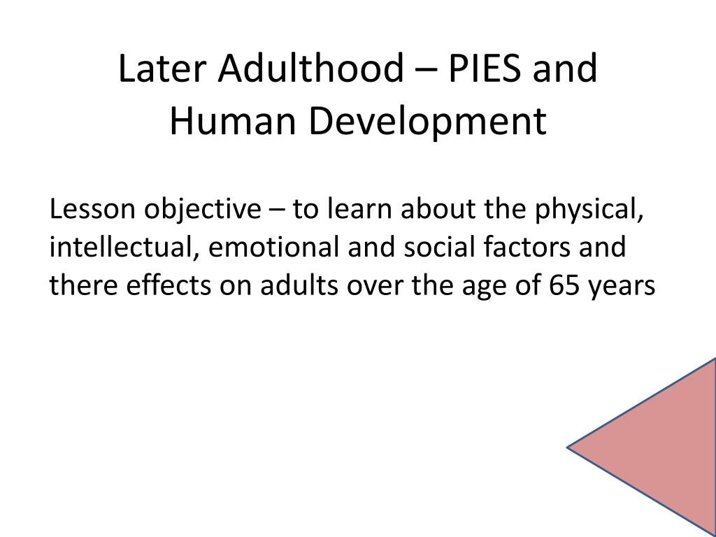 Cognitive development in older adulthood 65+ dating