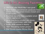 life in the roaring twenties