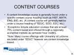 content courses