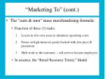 marketing to cont