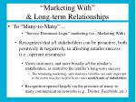 marketing with long term relationships1