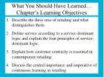 what you should have learned chapter s learning objectives