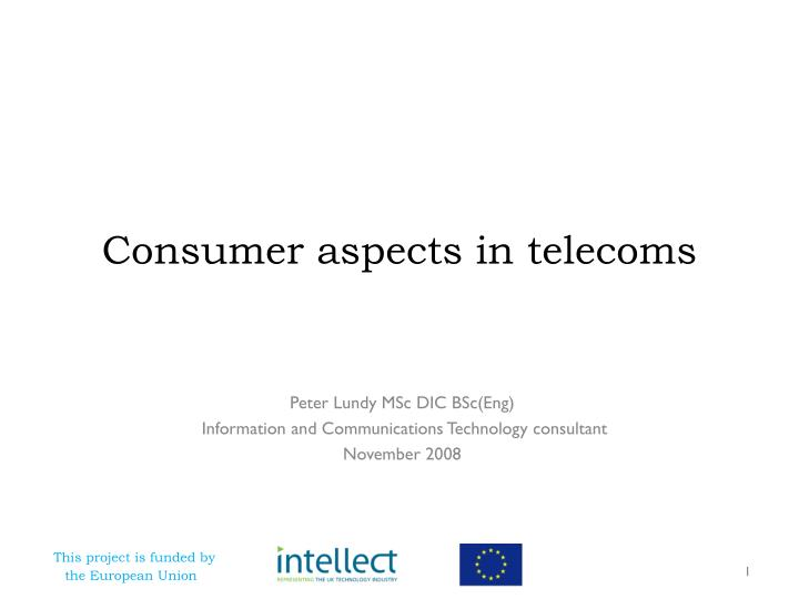 consumer aspects in telecoms n.